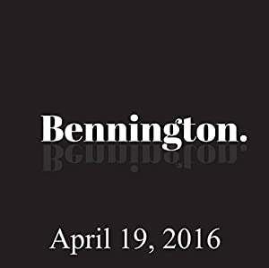 Bennington, April 19, 2016 Radio/TV Program