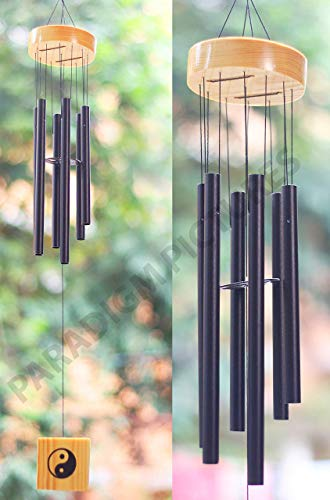 PARADIGM PICTURES Crystal 6 Pipes/Rods Fengshui Windchime with Good Sound for Positive Vibrations and Energy at Home and…