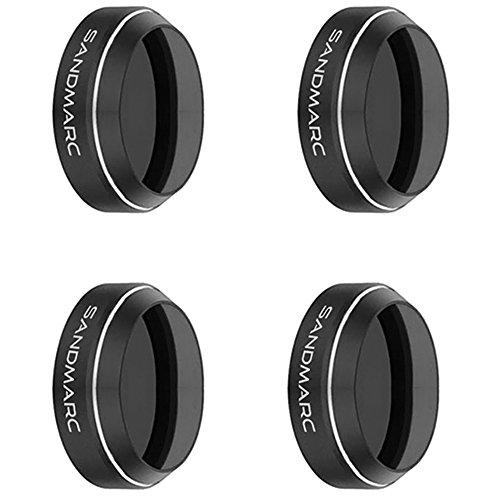 SANDMARC Pro Filters for DJI Mavic Pro & Platinum - ND4/PL, ND8/PL, ND16/PL, ND32/PL Filter Set (4-Pack) by SANDMARC