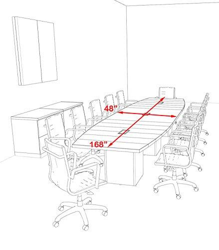 Amazon Com Modern Boat Shaped Cube Leg 14 Feet Conference Table