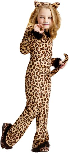 Kids Cheetah - Child Pretty Leopard Costume (Medium (8-10))