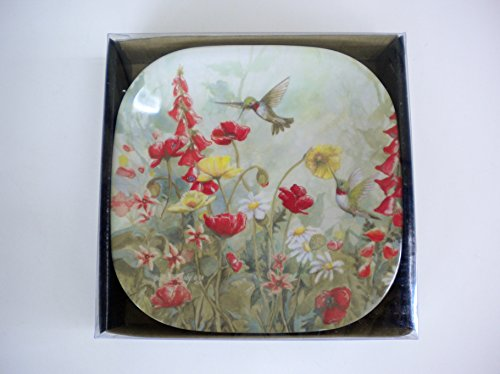Hummingbird Melamine Snack Plates Set of Six (Best Passed Hors D Oeuvres)