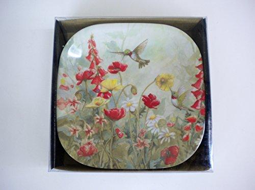 Hummingbird Melamine Snack Plates Set of Six