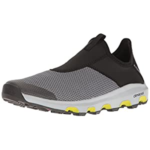 adidas Outdoor Men's Terrex Climacool Voyager Slip-on Water Shoe, Vista Grey/Black/Unity Lime, 9 M US