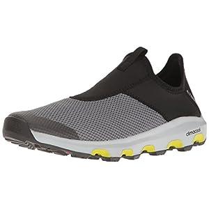 adidas Outdoor Men's Terrex Climacool Voyager Slip-on Water Shoe, Vista Grey/Black/Unity Lime, 9 M US
