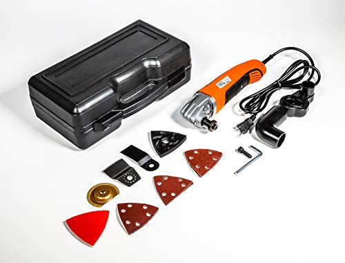 (Vibrarazer the DIY Handheld Home Renovating Oscillating Hand Multi-Tool 7 Piece Set with Carrying Case and Blades by Rotorazer Saw)