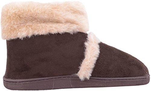Pantoufle Fourrure Avec Sur Garniture En Bottines Fausse Marron Bootee De Femmes Absolues Glisser Chaussures wx8vOaqX