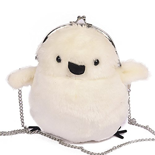 QZUnique Fur Bag Faux White Bag Bag Shaped Crossbody Carton Chick Shoulder Lovely xggwqBOCS