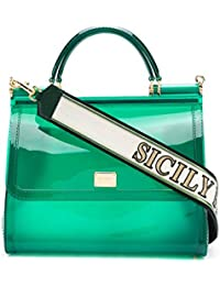 Women's BB6235AU6988B645 Green Pvc Handbag