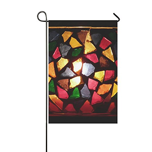 Home Decorative Outdoor Double Sided Windlight Glass Colorfu