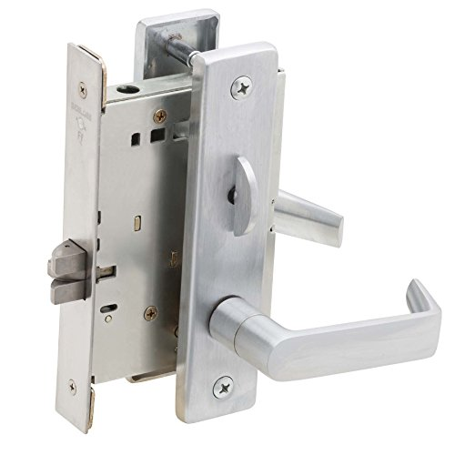 (Schlage L9040 06L 626 Series L Grade 1 Mortise Lock, Privacy Function, Keyless, 06L Design, Satin Chrome Finish)