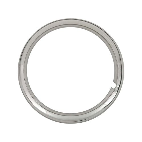 MACs Auto Parts 49-24955 Trim Ring - Polished Stainless Steel - For 14 Wheels - FordOnly