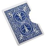 MilesMagic Magician's Close up Bite Out Card Gimmick Bite and Restore Card Magic Trick, Blue