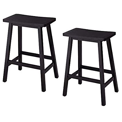 Fabulous Amazon Com Lovinland 2 Pcs Wood Bar Stools 24 Barstools Cjindustries Chair Design For Home Cjindustriesco