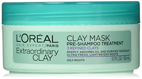 L'Oréal Paris Hair Expert Extraordinary Clay Pre-Shampoo Mask, 5.1 fl. oz. (Packaging May Vary)