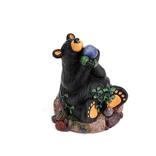 (DEMDACO Berry Heaven Black Bear 5 x 4 Hand-cast Resin Figurine)
