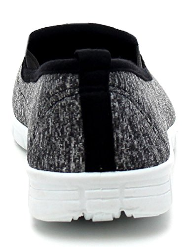 Rinfrescare Calzature Da Donna Slip On Fashion Sneaker Nero