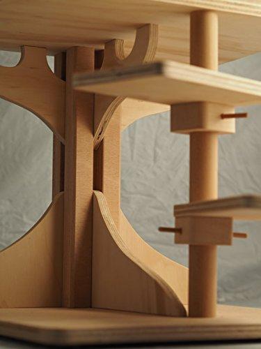 Novedad Blitzen, ROBINSON XL, bellísima caseta y el tronco del árbol para gatos, cama de gato, gato casa, rascador, 100% MADE IN ITALY: Amazon.es: Hogar