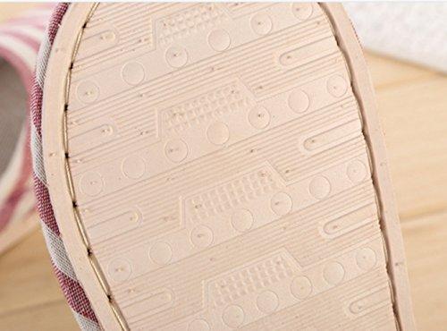 WJL Lino Pantofole, uomini e donne Pantofole, anti - scivolo Lino pantofole, sandali freddi la casa ( Color : Lt Black , Size : 40/41 )