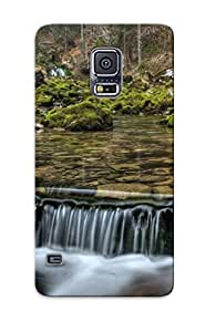 New Style Eatcooment Small Forest Waterfall Premium Tpu Cover Case For Galaxy S5