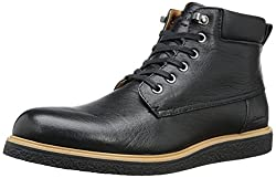 CK Jeans Men's Farid Leather/Smooth Boot, Black/Black, 10.5 M US