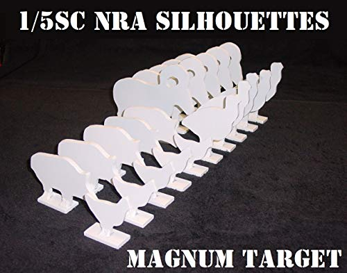 1/5 Scale NRA/IHMSA Metallic Silhouette Targets - 20pc Small Bore Rifle Knock-Overs
