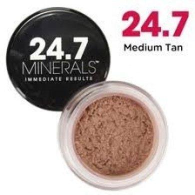 24,7 minéraux de teint minéral anti-âge spf 16 avec GABA neuf dans la boîte pour un bronzage moyen