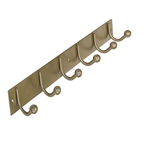Richelieu Hardware Hook rack pewter metal 19-1/2 in. 6 single hook bar