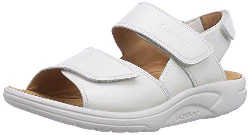 Ganter AKTIV FABIA Weite F Damen Sandalen, Weiß (Weiss 0200)