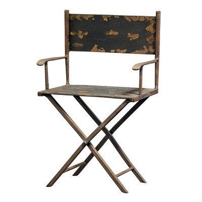 Design Toscano MHZ064 MH01257 Maßstabgetreuer Stuhl des Regisseurs Skulptur