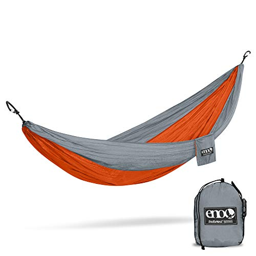 ENO, Eagles Nest Outfitters DoubleNest Lightweight Camping Hammock, 1 to 2 Person, Special Edition Colors, Charcoal/Maroon