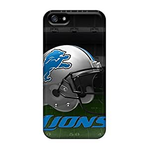 New THr35108fpnv Detroit Lions Skin Cases Covers Shatterproof Cases For Iphone 5/5s