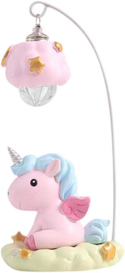 Funihut Lámpara de mesita de Noche para habitación Infantil, lámpara de Mesa Vintage, Unicornio, lámpara de Lectura, Animales, luz de Ambiente para niños, niñas, Unicornios