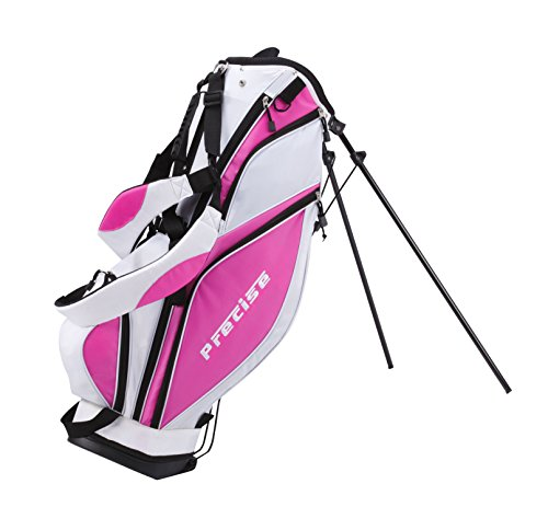 Precise Premium Ladies Womens Complete Golf Clubs Set Includes Driver, Fairway, Hybrid, S.S. 5-PW Irons, Putter, Stand Bag, 3 H/C's (Pink, Right Hand) by PreciseGolf Co. (Image #5)