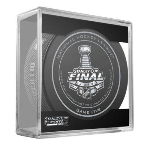2015 NHL Stanley Cup Finals Game 5 Puck - Tampa Bay Lightning vs. Chicago Blackhawks
