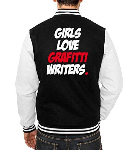 Love Grafitti Writers College Vest Black Certified Freak