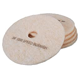 MCO18066 - Ultra High-speed Topline Floor Burnishing Pads 3200, 20-inch, White/amber