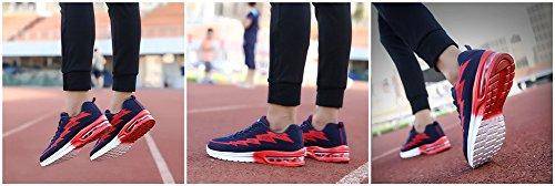 MIMIYAYA Traspirante Rosso Ginnastica da Leggero Basse Fitness Uomo Scarpe Corsa Air Casual Sneakers 44EU Interior 34 Sportive Donna Running e Unisex all'Aperto Unw1xqYrU
