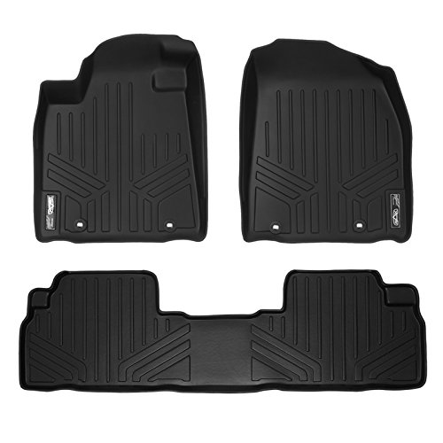 SMARTLINER Floor Mats 2 Row Liner Set Black for 2013-2015 Lexus RX350/RX450h