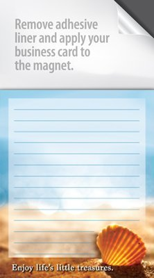 Real Estate Magnet Notepads - With a peel and stick area for your Business Card! Great Marketing Tool - Box of 100 Notepads (Beach Life) (Estate Business)
