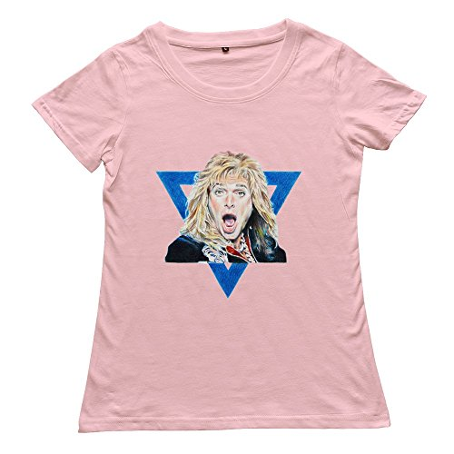 goldfish-womens-style-casual-david-lee-roth-t-shirt-pink-us-size-m