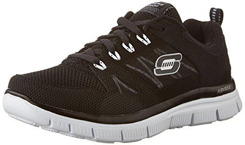 Skechers Boys Flex - Advantage Sneaker Black/White Size 3.5 M US Big Kid (Marketing Advantage)