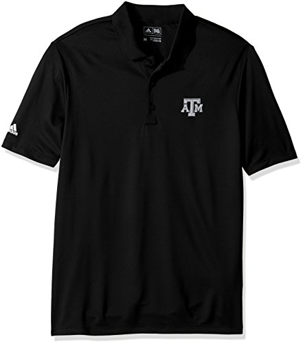 NCAA Texas A&M Aggies Adult Men Primary Logo Performance Polo,Large,black