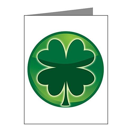 X-Large Greeting Card (20 Pack) Shamrock Four Leaf Clover - Clover Ends Cross