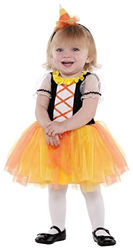Infant Sized Candy Corn Treat Costume 0-24 Months (Candy Girl Child Costume)