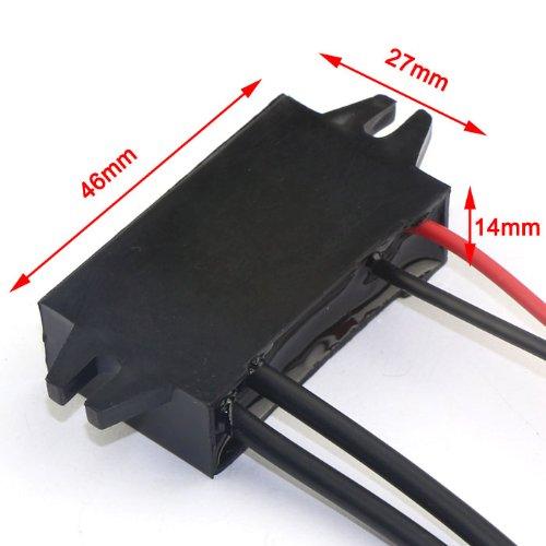 DROK/® Parallela Per Adattatori Connettori USB Doppio 8-20V 12V a 5V 1A DC Car Power Converter Impermeabile