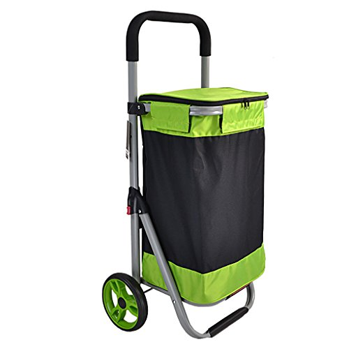 Price comparison product image Portable shopping cart trolley stair climbing cart collapsible luggage trailer (Color : B)