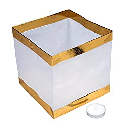 Pack of 20 Water Floating Candle Lanterns Outdoor Biodegradable Lanterns for Praying 5.9 Inch