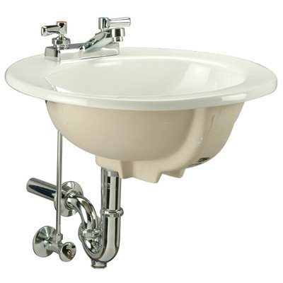 Zurn Z5121 Countertop Lavatory, Single Hole, 19'' Round