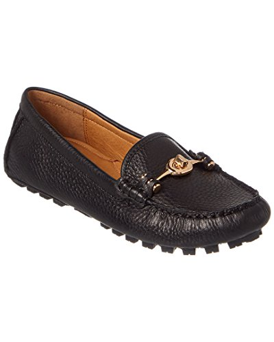 Coach Arlene Mujer Moc Toe Piel Loafer Black Pebble Grain Leather